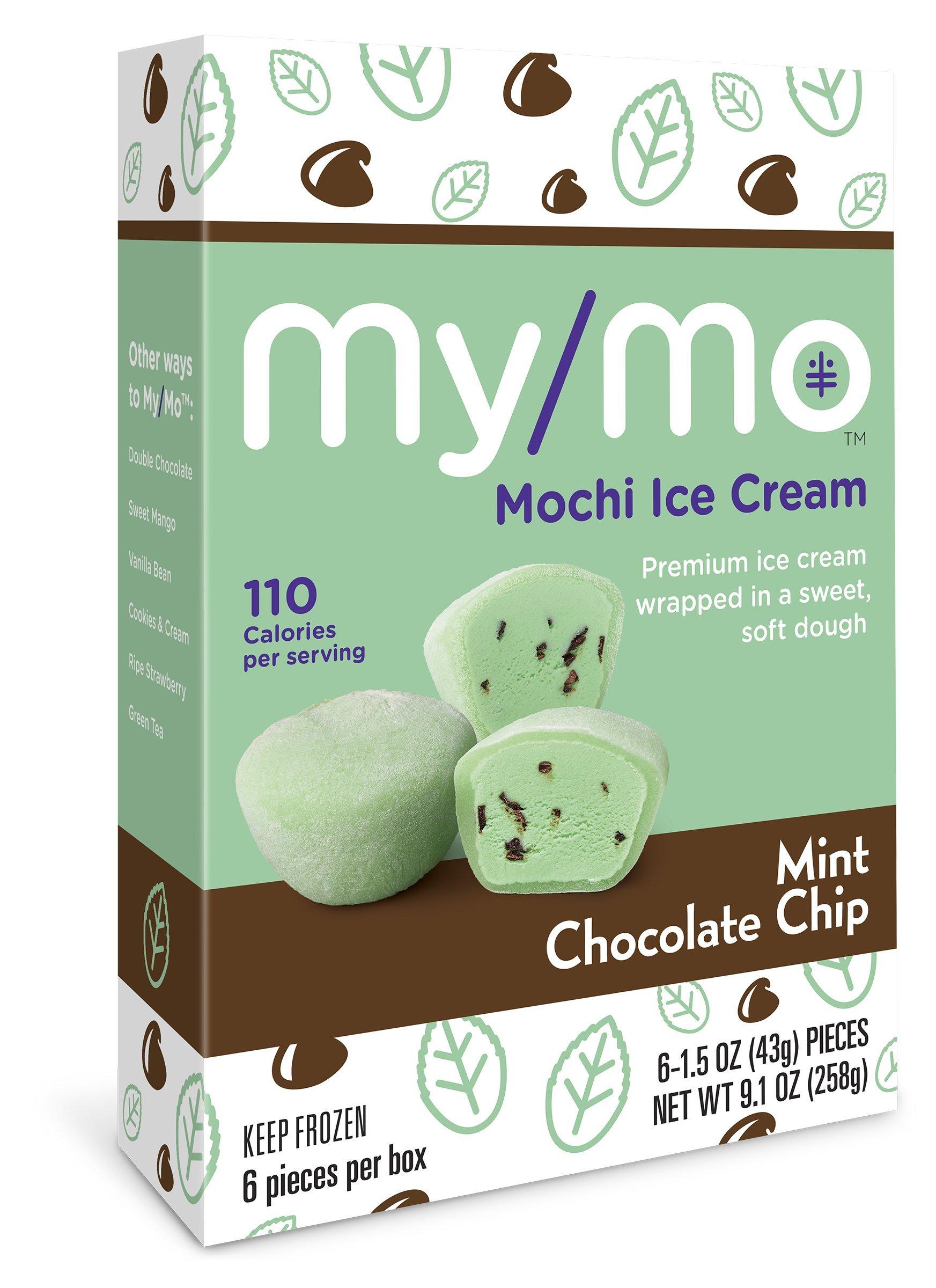 My/Mo Mint Chocolate Chip Mochi Ice Cream - 36 Mochi Ice Cream Balls (6 x 6ct. Boxes)