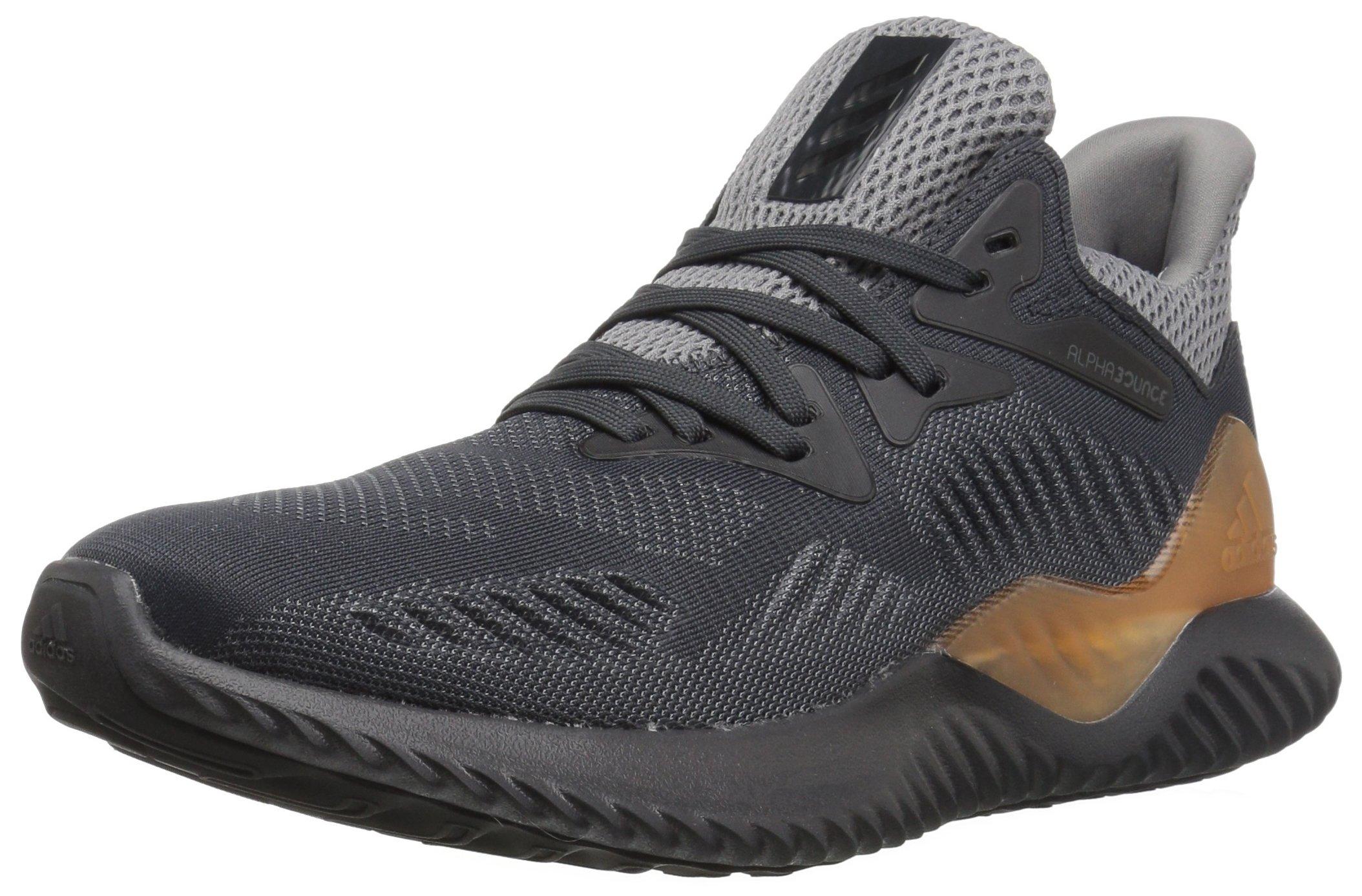 adidas Performance Unisex-Kids Alphabounce Beyond j, Grey Four/Carbon/Dark Solid Grey, 5 Medium US Big Kid