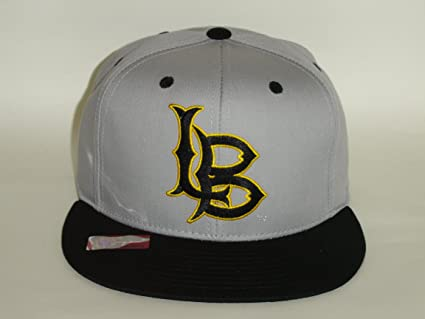 Image Unavailable. Image not available for. Color  NCAA Long Beach State  49ers Logo 2 Tone Grey Black Snapback Cap 239293a9b818