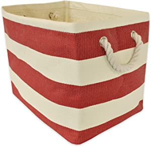"""DII, Woven Paper Storage Bin, Collapsible, 11x10x9"""", Rugby Tango Red, Small"""