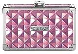 Vaultz Locking Supply Box, 8.25 x 5.5 x 2.5 Inches, Pink Reflective Diamond