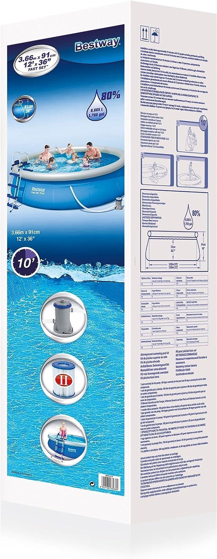 Bestway 57277 - Piscina Desmontable Autoportante Fast Set 366x91 ...