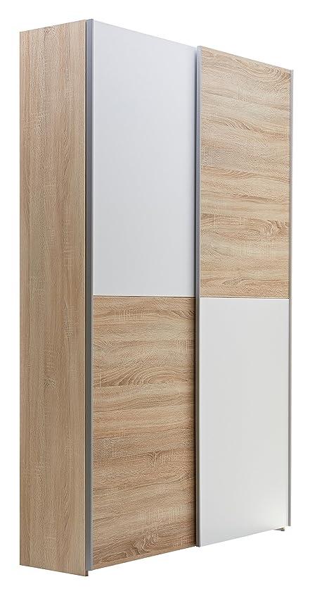 Kleiderschrank schiebetüren holz  Stella Trading 70-040-68-2 Schrank, Holz, braun / weiß, 38 x 125 x ...