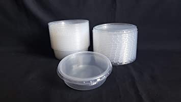 5fc578866ee7 Set 20pcs 4 oz (125ml) Small Plastic Disposable Round Containers ...