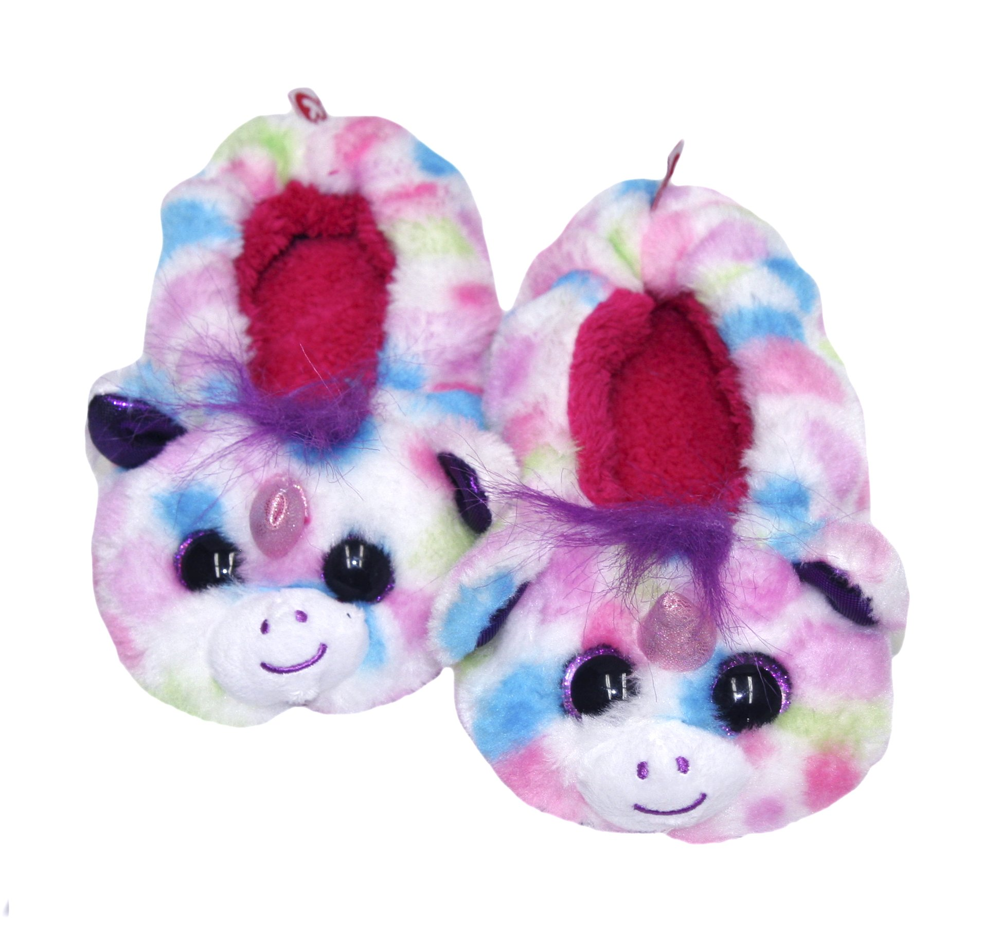 TY Beanie Boos Kids Girls Plush Animal Toy Non Skid Slipper Socks (See More Designs, Colors, and Sizes) (Medium, Wishful Unicorn)