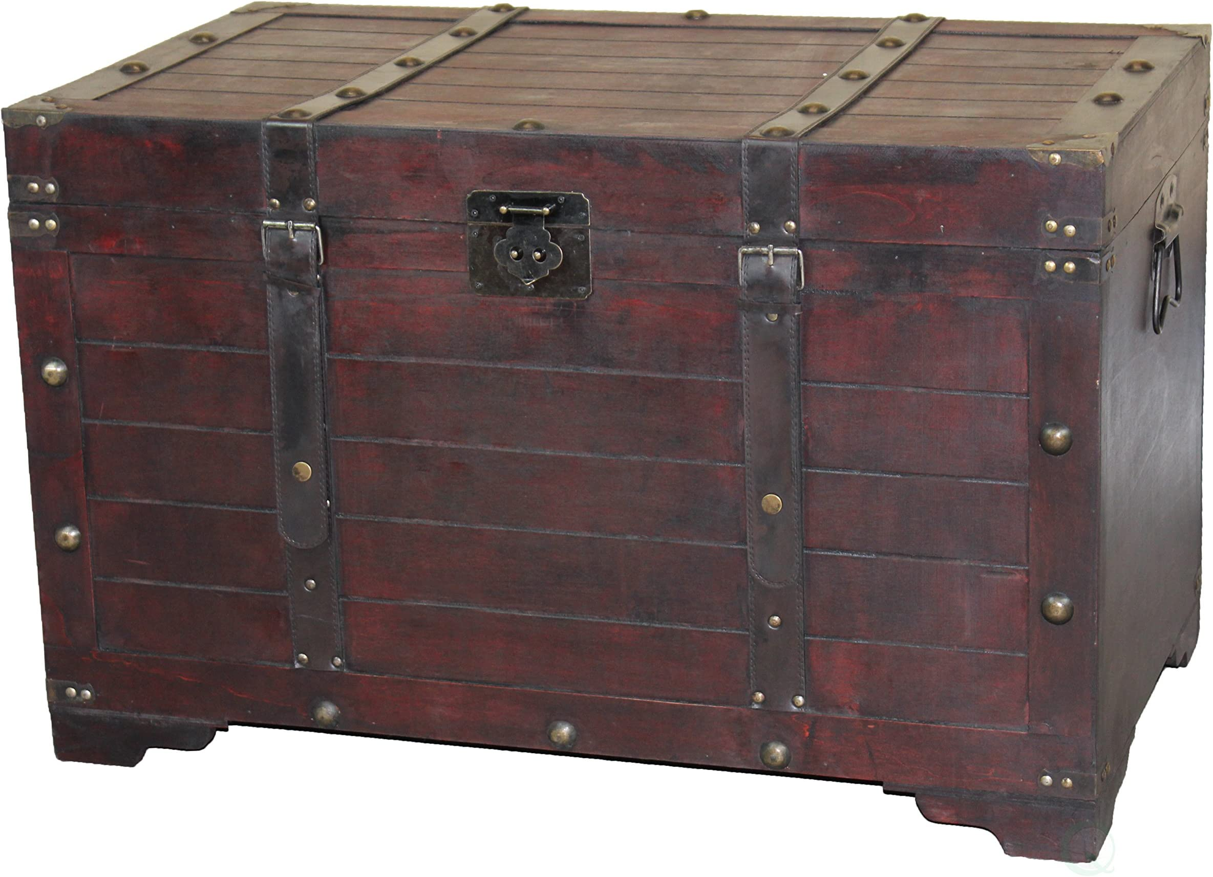 Antique Cherry Large Wooden Storage Trunk  sc 1 st  Amazon.com & Storage Trunks | Amazon.com