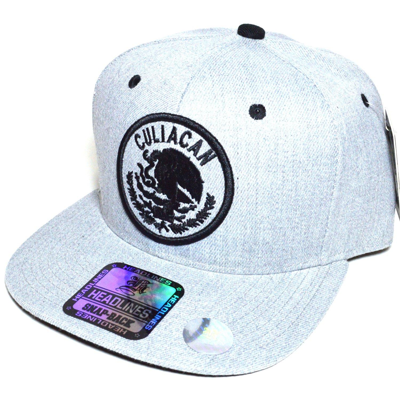 eddc603d101 Mexico City w  Flag Embroidered Silver Snapback Flat Visor Cap Durable Baseball  Hat AYO1041 (CULIACAN) at Amazon Men s Clothing store
