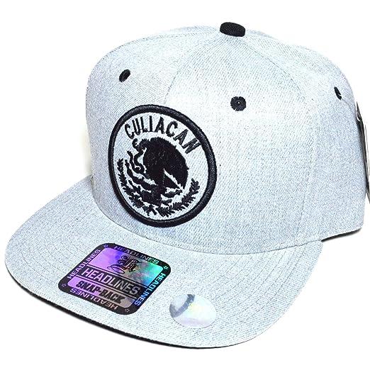 71b53dd18ad Mexico City w  Flag Embroidered Silver Snapback Flat Visor Cap Durable Baseball  Hat AYO1041 (