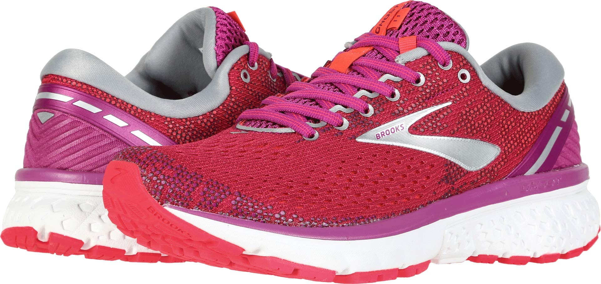Brooks Women's Ghost 11 Aster/Diva Pink/Silver 5 B US