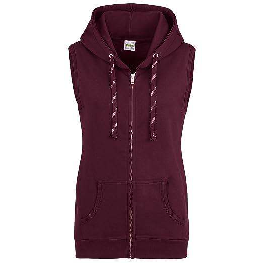 c71482a3 AWDis Just Hoods Womens/Ladies Girlie Sleeveless Full Zip Hoodie