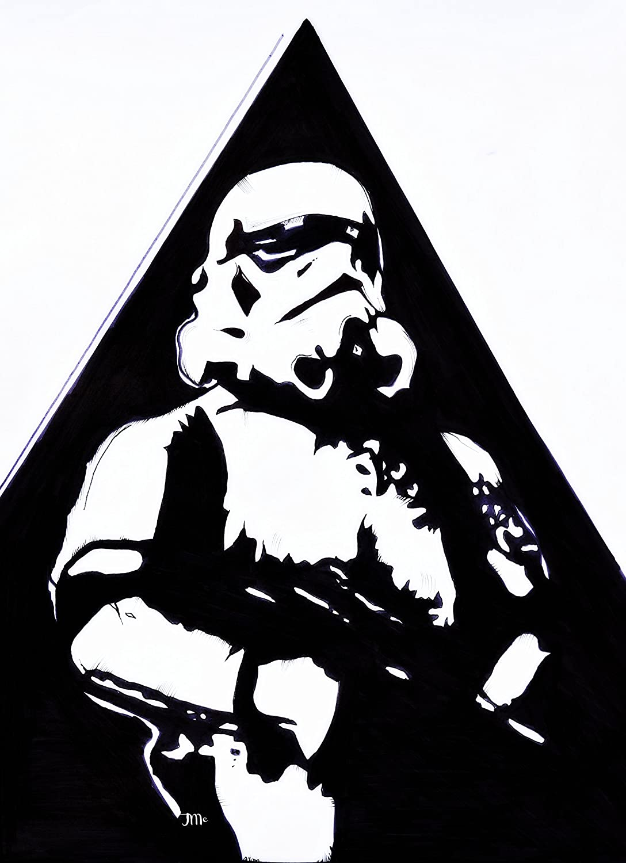 Amazon Com Star Wars Print Stormtrooper The Last Jedi Rogue