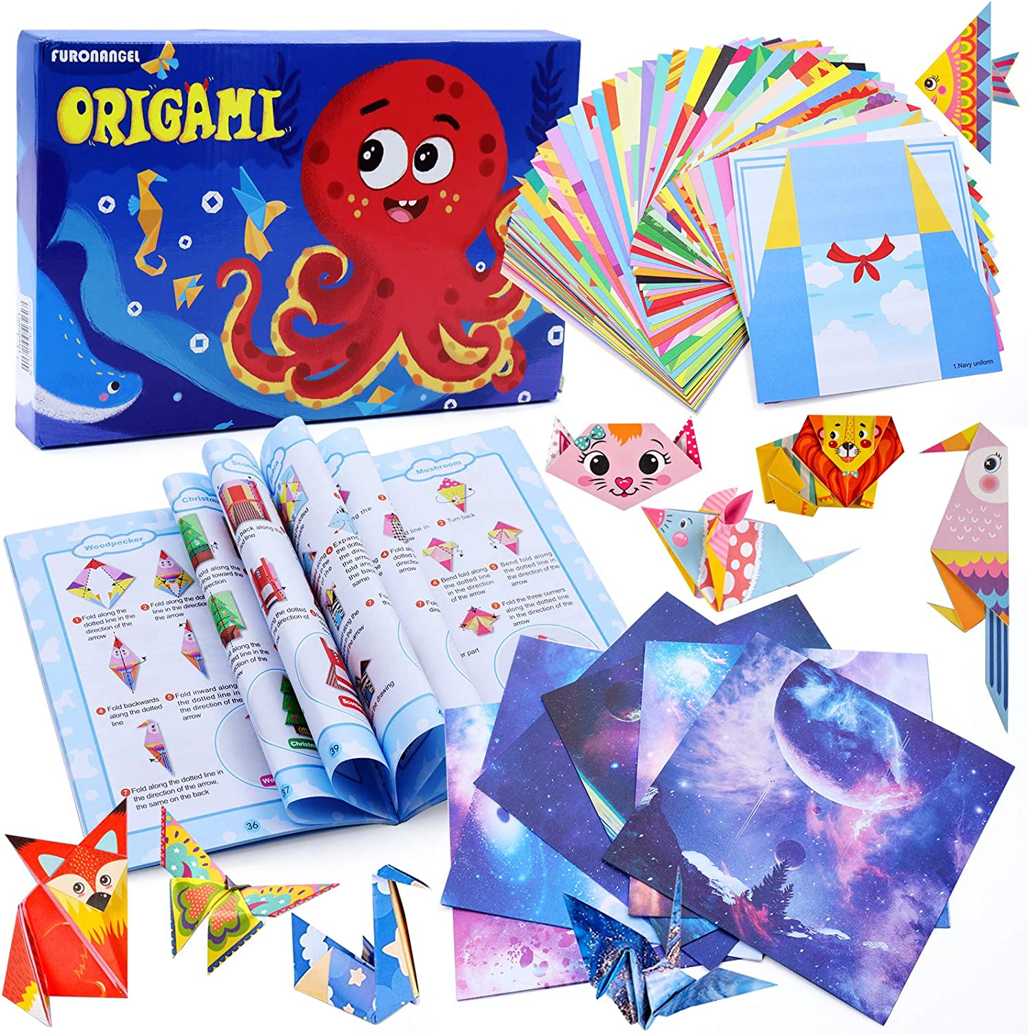 202 Double Sided Origami and 72 Origami Project Craft Instruction ...