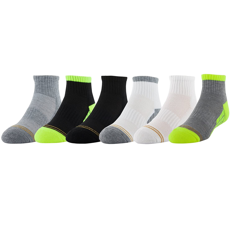 5bd68ae4d0d2 Gold Toe Boys  Ultra Tec Athletic Quarter Socks