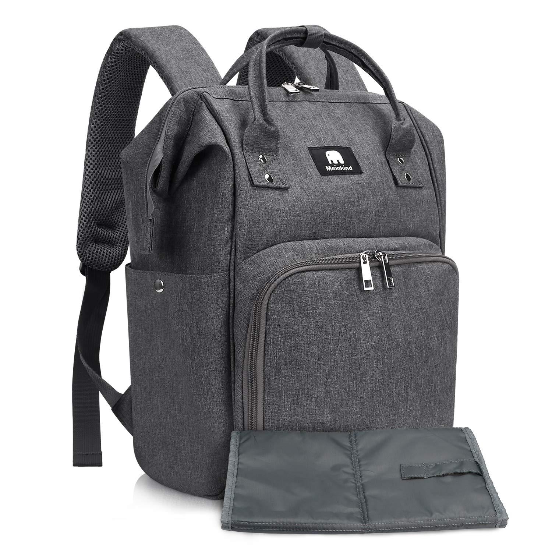 Wickeltasche Rucksack mit isolierten Taschen Baby Wickelrucksack mit USB-Ladeanschluss