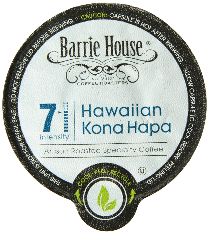 Barrie House Hawaiian Kona Hapa Single Cup Capsule, 96 Count: Amazon.com: Grocery & Gourmet Food