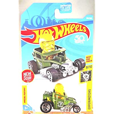 Hot Wheels 2020 50th Anniversary Experimotors Skull Shaker 218/365, Green: Toys & Games