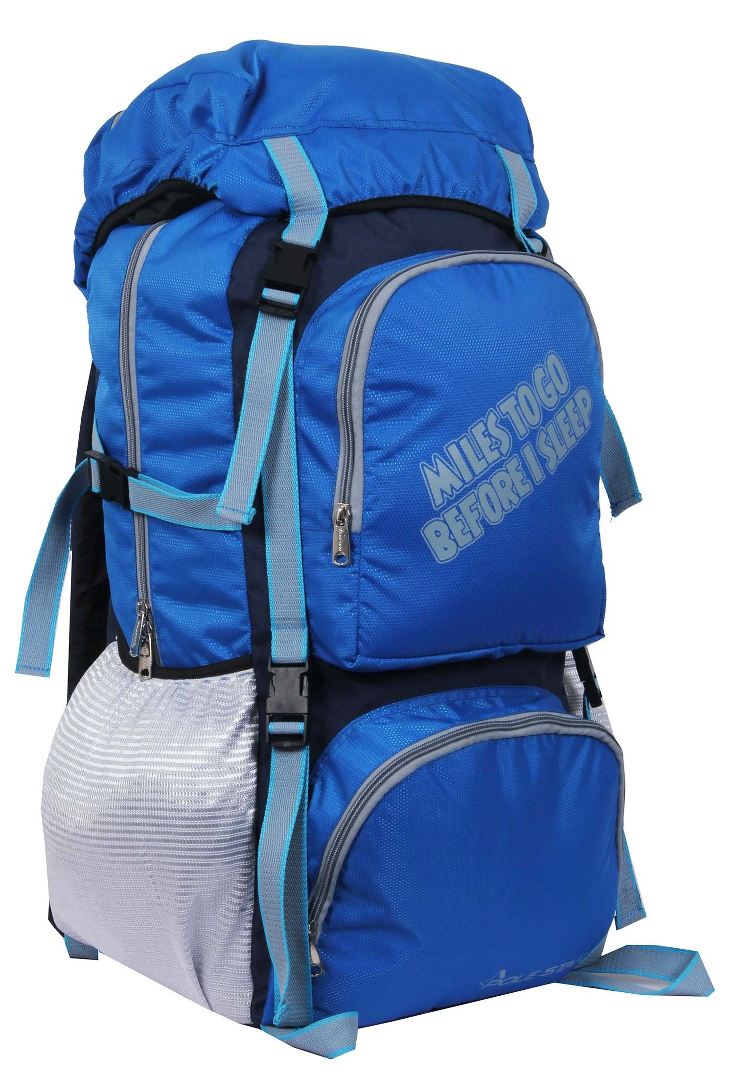 POLESTAR Rocky Polyester 60 Lt Royal Blue Rucksack/Travel/Hiking/Weekend Backpack Bag product image