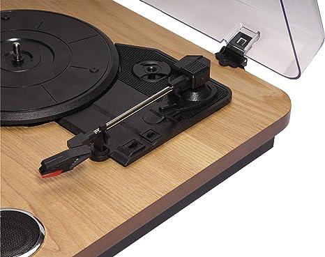 Denver USB de Tocadiscos, Color Negro Tocadiscos USB Madera ...