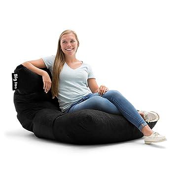 Big Joe Roma In Comfort Suede Plus Bean Bag Black