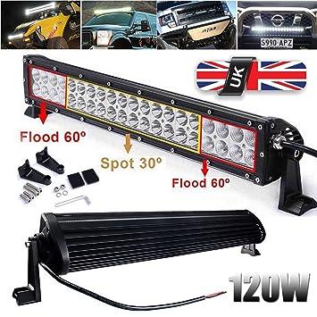 Led Lights For Cars >> 120w 21 Inch Led Lights Bar Spot Light Flood Light Combo Work