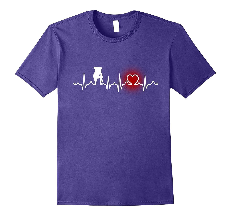 Pit bull heartbeat t-shirt - proud t-shirt for pitbull lover-Vaci