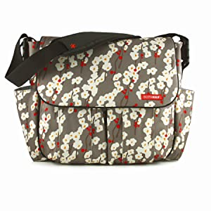 Skip Hop Dash Deluxe Diaper Bag, Cherry Bloom (Discontinued by Manufacturer)