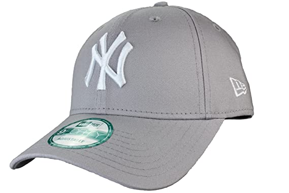 ... cheap new era 9forty adjustable baseball cap league basic new york  yankees in grey white 55323 8ba88f572aca