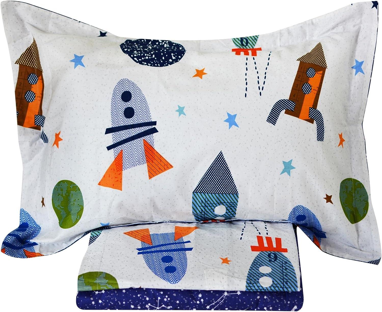 Brandream Kids Boys Bedding Sets Full Size Airplanes Printed Sheets Set Deep Pockets 18 Inch Children Flat Sheet Fitted Sheet Pillowcase Bedding Set