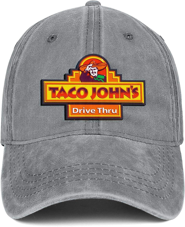 Unisex Taco Johns-Logo Hat Adjustable Fitted Dad Baseball Cap Trucker Hat Cowboy Hat