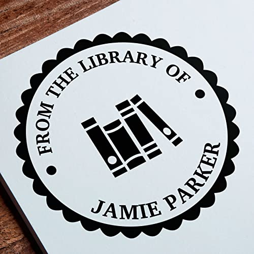 Custom Library Stamp From The Of Book Ex Libris