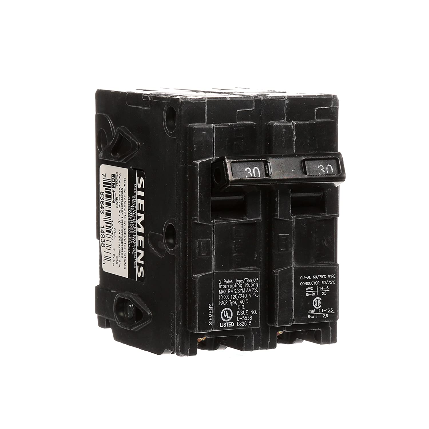 Q230 30 Amp Double Pole Type Qp Circuit Breaker How To Find
