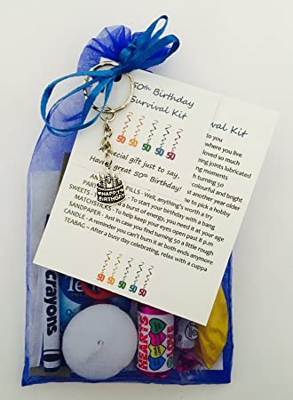 50th Birthday Survival Gift Kit Fun Happy Present For Him Her Choose