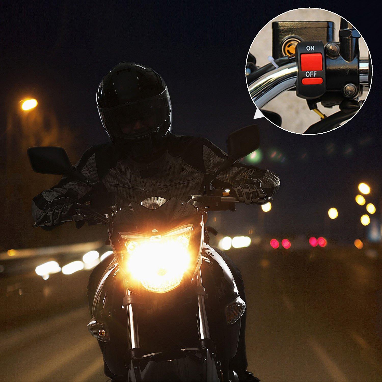 ZOEON Moto Faro Interruttore Light Attenzione Interruttore Lampeggiatore Manubrio della Motocicletta del Motorino di Controllo