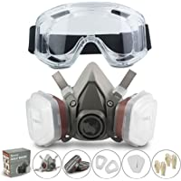 Respirator RHINO Halfgelaatsmasker tegen Stof Bescherming Half Masker Herbruikbare Stofdicht, Verf, Gas, Chemicaliën met…
