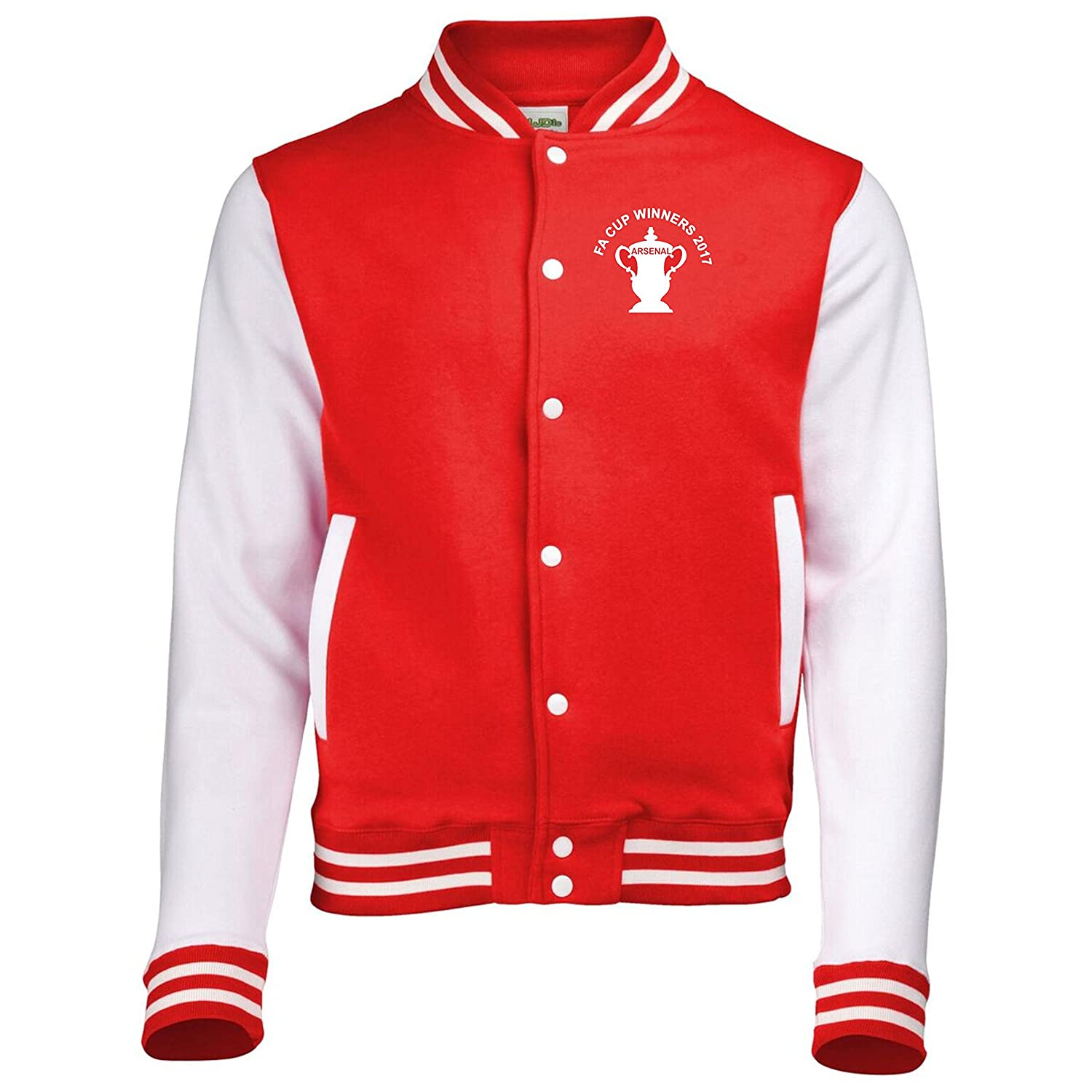 Fa Cup Final 2017 Cup Design Arsenal Fan Varsity Jacket Mens