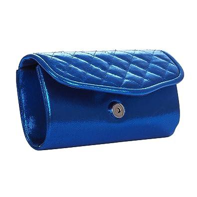 056a26b2ec Pochette mariage bleu roi métallisée rabat matelassé - Pochette soirée - Sac  à main: Amazon.fr: Chaussures et Sacs