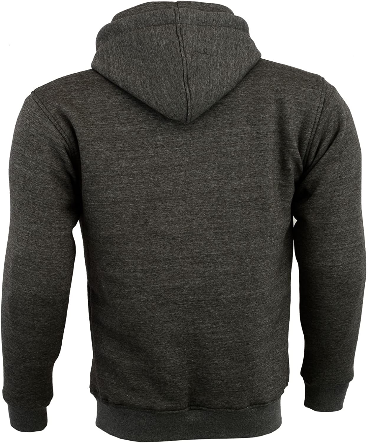 New Motorbike Motorcycle Fleece Hoody Hoodie Full CE Removable Protection Armour XXXL, Grey