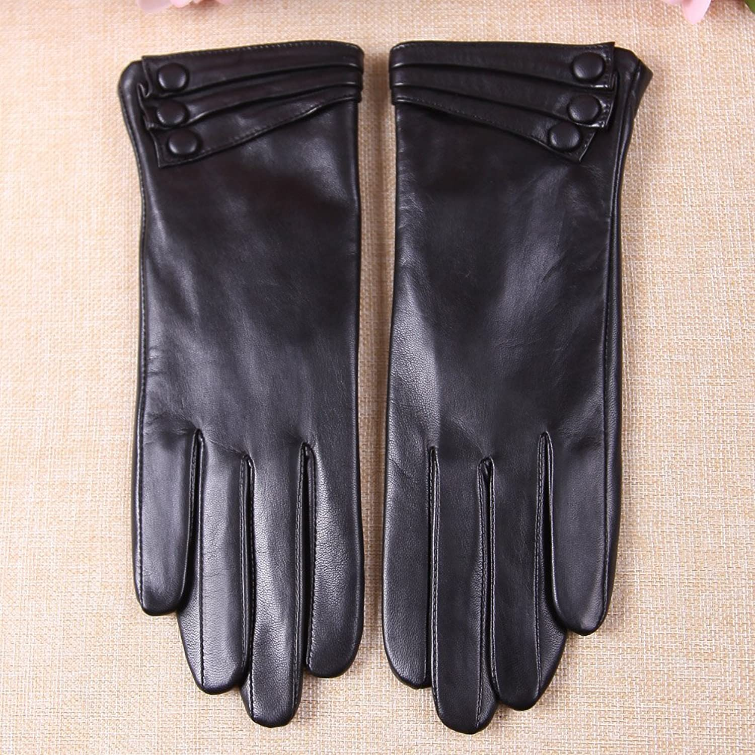 Ladies leather gloves xs - Warmen Women S Touchscreen Texting Driving Winter Warm Nappa Leather Gloves 6 5 Us Standard Size Black Fleece Lining At Amazon Women S Clothing