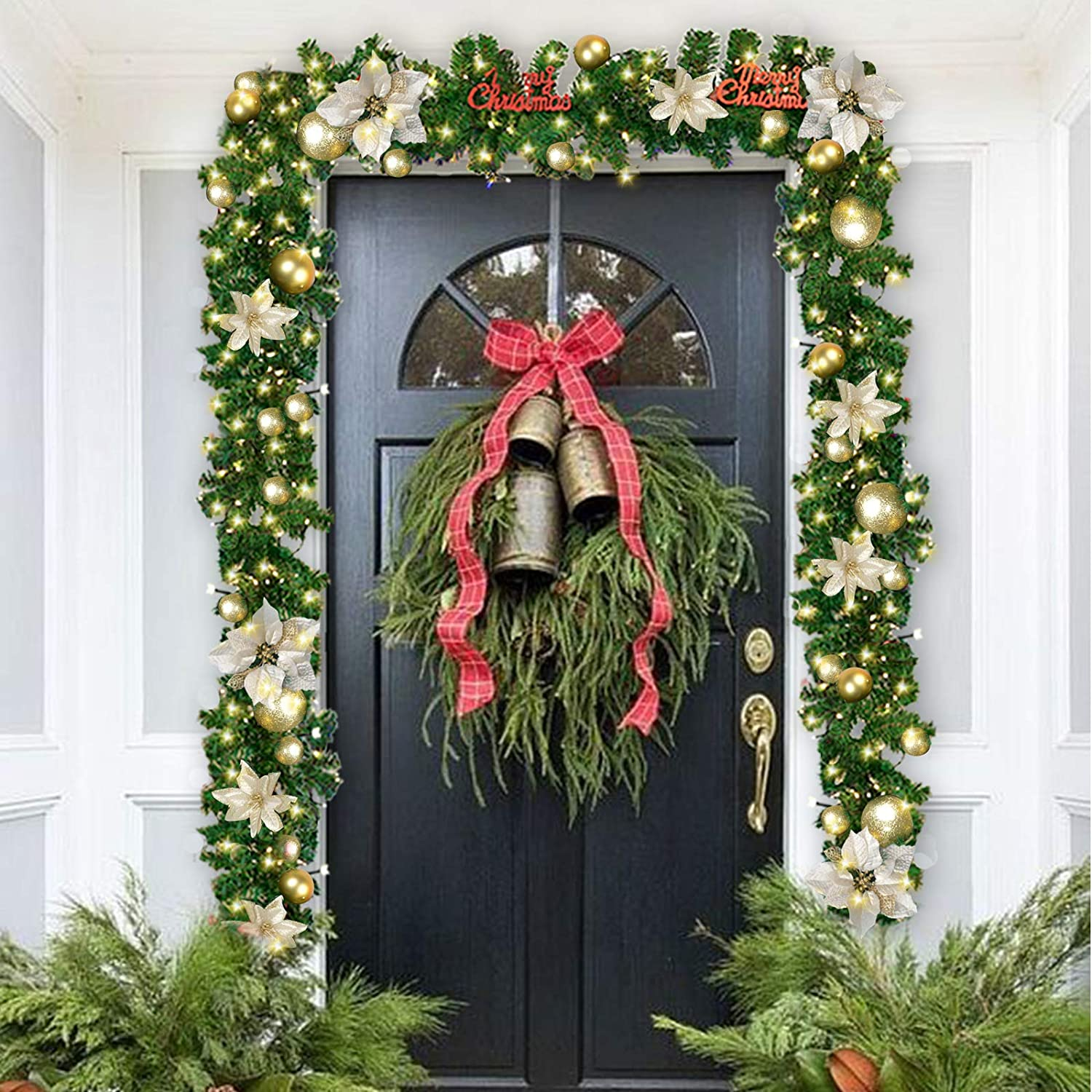 Amazon Coxeer Christmas Garland 9 Ft Holiday Graland Flower