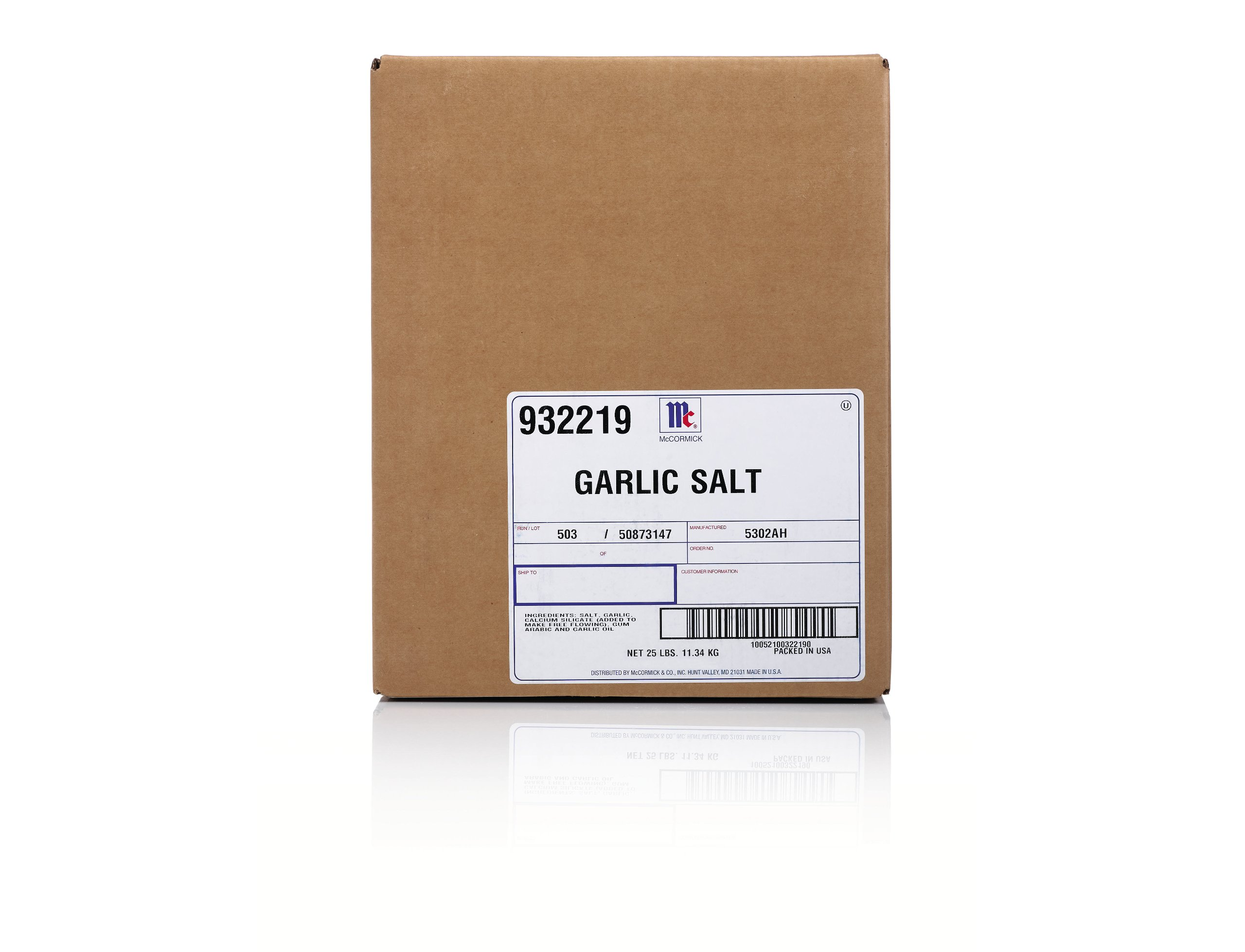 McCormick Culinary Garlic Salt, 25 lbs