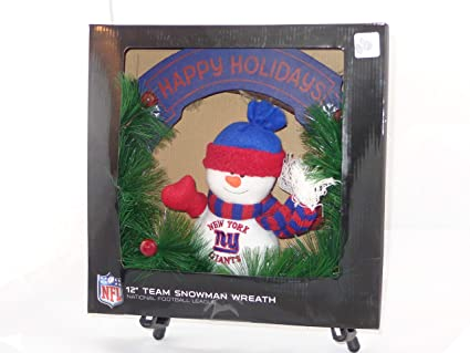568168a191b Image Unavailable. Image not available for. Color  SC Sports NFL 12 New  York Giants Snowman Wreath