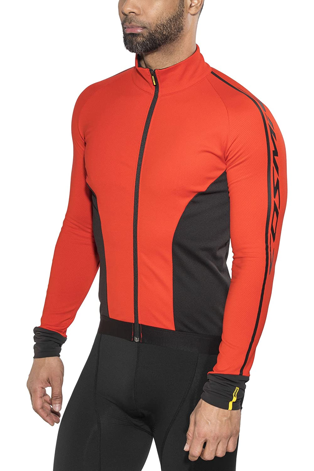 Mavic Cosmic Elite Thermo Winter Fahrrad Trikot rot schwarz 2018