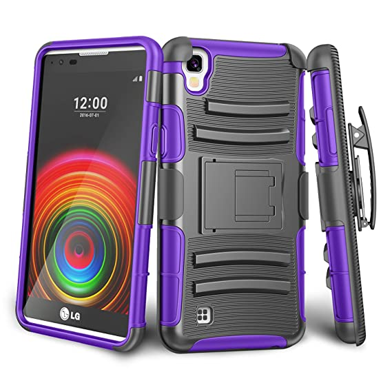 pretty nice 8217a 8115f LG X Power Case,LG K210 Case,TILL [Knight Armor] Heavy Duty Full-body  Rugged Holster Resilient Armor Case [Belt Swivel Clip][Kickstand] Combo  Cover ...