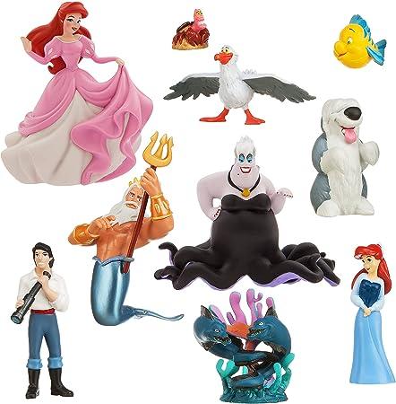 Kit Decoration Topper Figurine Plastic Ariel the Little Mermaid 8 cm
