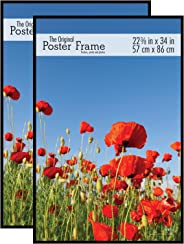 MCS 65548 - Marco para póster (2 Unidades), 56.85 cm x 86.36 cm, Color Negro