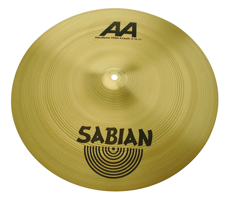 品質保証 SABIAN [AA] MEDIUM THIN THIN AA-18MTC CRASH AA-18MTC MEDIUM B0002F5648, 陸前高田市:7a3ef631 --- a0267596.xsph.ru