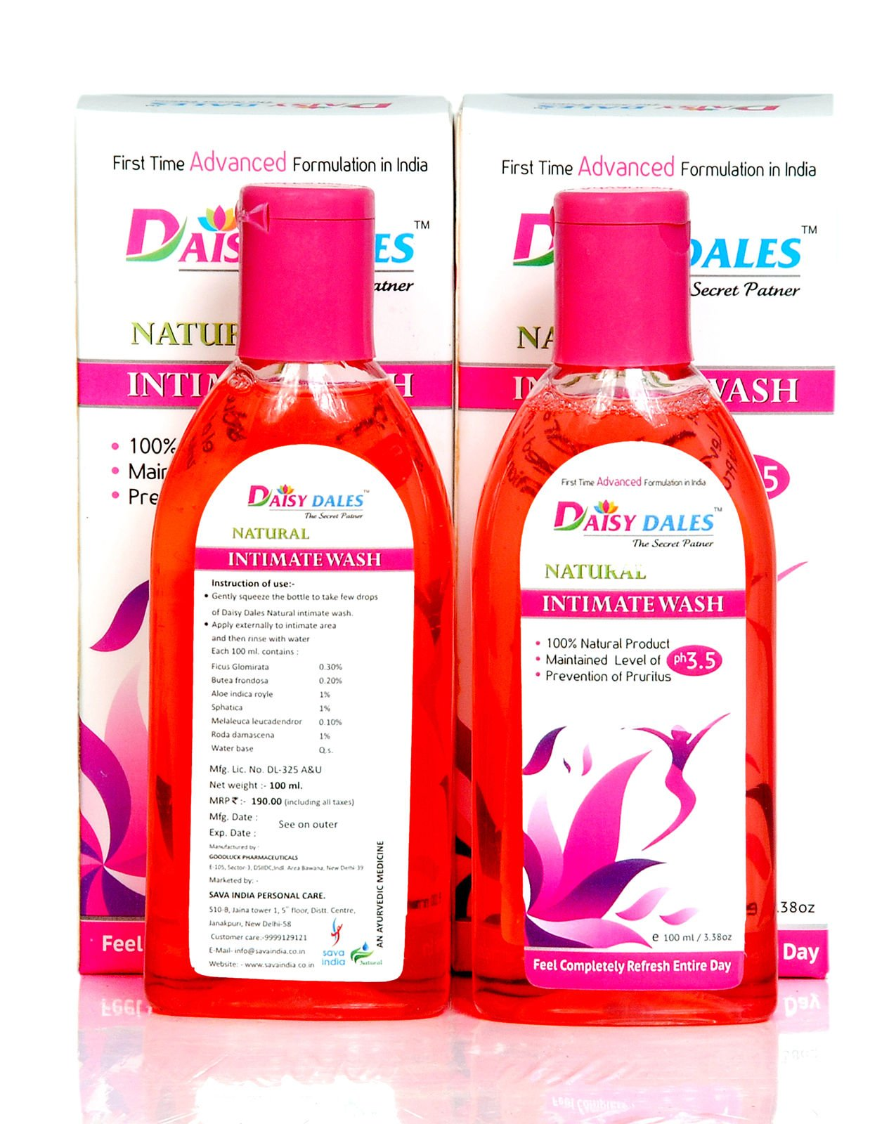 DAISY DALES NATURAL INTIMATE WASH 3.38 Fl. Oz. (100ML) Hygiene Care Products For Women by DAISY DALES (Image #3)