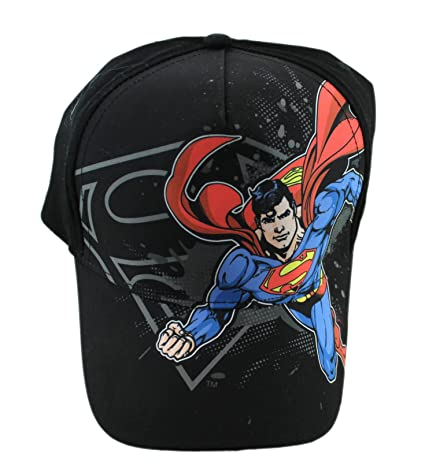a9892abe909d7 Image Unavailable. Image not available for. Color  Black Superman  Adjustable Hat ...