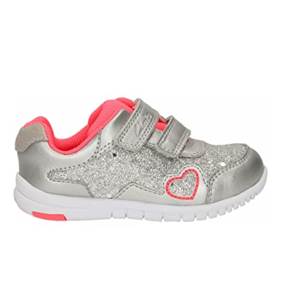 571c2816547d Infant Girls First Trainers Azon Maze - Silver Metallic Combi - UK Size 4H  - EU