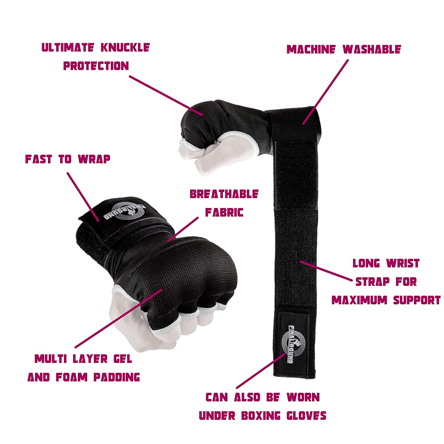 Final Round Gel Padded Inner Boxing Gloves with 2 Difficulty Level Reflex Ball